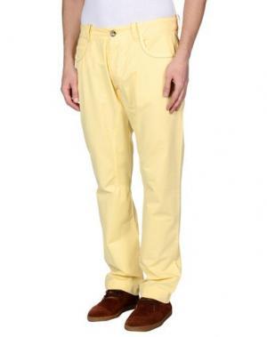 Повседневные брюки HISTORIC RESEARCH. Цвет: желтый