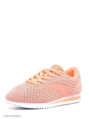 Кроссовки ANTA. Цвет: персиковый