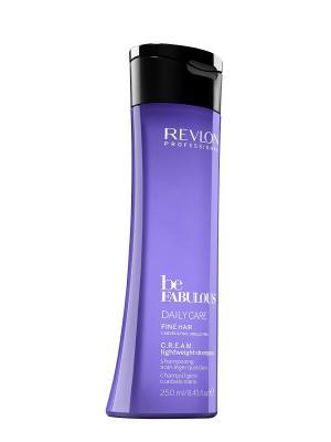 Ежедневный уход для тонких волос. C.R.E.A.M. очищающий шампунь RP BE FABULOUS 250 мл Revlon Professional. Цвет: индиго