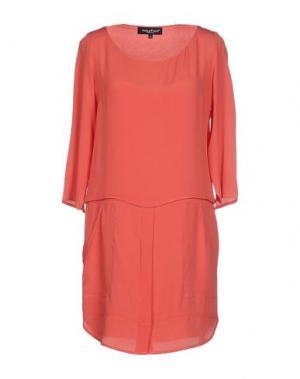 Короткое платье ADELE FADO. Цвет: коралловый