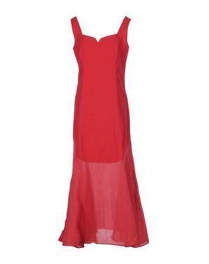 Длинное платье EUROPEAN CULTURE. Цвет: красный