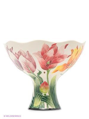 Ваза для фруктов Тюльпаны Blue Sky. Цвет: молочный, красный