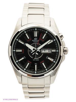 Часы EDIFICE EFR-102D-1A CASIO. Цвет: серебристый