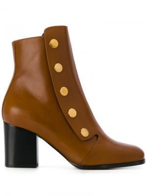 Ботинки с пуговицами Mulberry. Цвет: коричневый