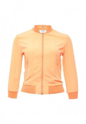 Куртка oodji. Цвет: оранжевый