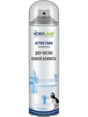 Nordland пена для чистки ванной комнаты с ароматом морской свежести, 600 мл.. Цвет: белый