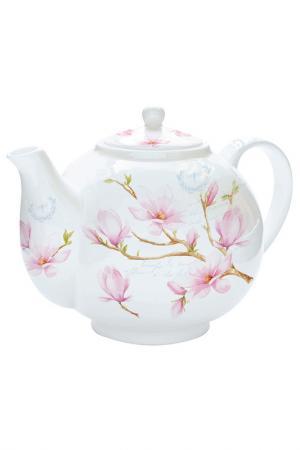 Чайник с ситечком 1 л Nuova R2S S.p.A.. Цвет: розовый, белый