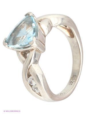 Кольцо Митра Ювелир. Цвет: голубой, белый, серебристый