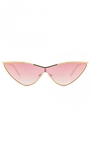 Солнцезащитные очки the fugitive Le Specs. Цвет: металлический золотой