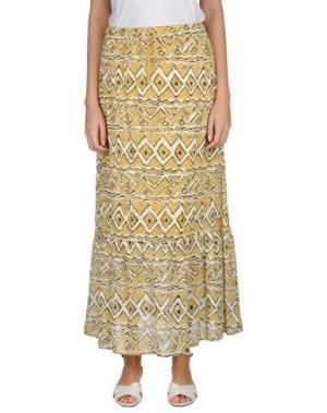 Длинная юбка KATE. Цвет: охра