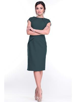 Платье REBECCA TATTI. Цвет: темно-зеленый