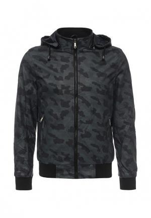 Куртка кожаная B.Men. Цвет: синий