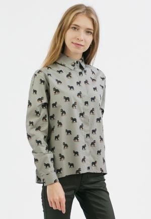 Рубашка Monoroom. Цвет: серый