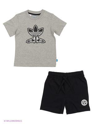 Спортивный Костюм I Soccer Shoest Adidas. Цвет: серый