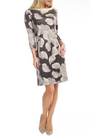 Платье TOK. Цвет: gray, beige