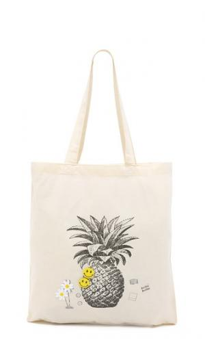 Объемная сумка с короткими ручками Pineapple Zhuu