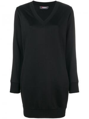 Платье с люрексом Jo No Fui. Цвет: чёрный