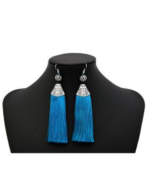 Серьги Miss Bijou. Цвет: голубой, серебристый