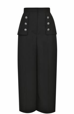 Укороченные широкие брюки со стрелками Alexander McQueen. Цвет: черный