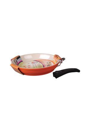 Сковорода 24см Green Top. Цвет: оранжевый