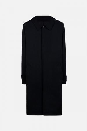 Однобортное пальто Ami Alexandre Mattiussi. Цвет: чёрный
