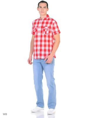 Рубашка Modis. Цвет: белый, красный