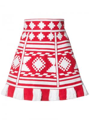 Aztec embroidery skirt Vita Kin. Цвет: красный