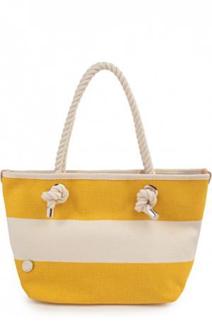 Пляжная сумка Bonfanti. Цвет: желтый