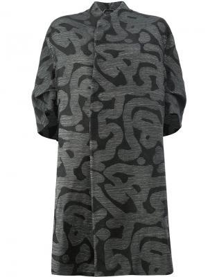 Пальто с принтом Toogood. Цвет: чёрный