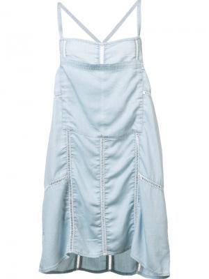Платье Concrete Obey. Цвет: синий