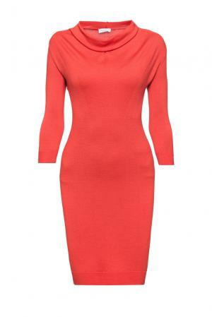 Платье из шерсти 172947 Andre Maurice. Цвет: оранжевый
