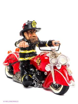 Фигурка Пожарный Байкер The Comical World of Stratford. Цвет: красный, черный
