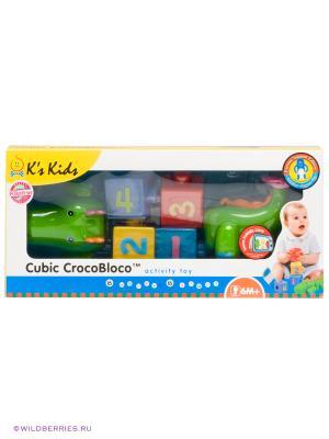 Сортер Крокодил K'S Kids. Цвет: зеленый, фиолетовый, красный, желтый, синий