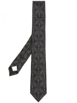 Галстук с вышивкой  Garavani Valentino. Цвет: коричневый