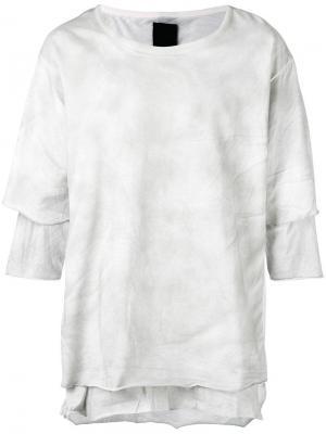 Многослойная футболка Thom Krom. Цвет: серый