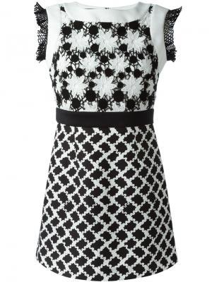 Платье с цветочным узором Emanuel Ungaro. Цвет: чёрный