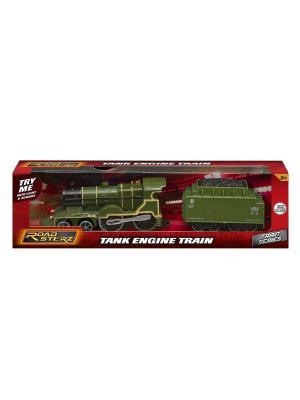 Паровозик Roadsterz зеленый с вагоном, звуковыми и световыми эффектами HTI. Цвет: зеленый