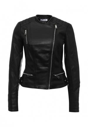 Куртка кожаная Paccio. Цвет: черный