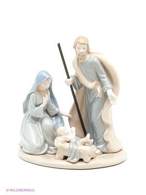 Композиция Рождество Христово Pavone. Цвет: голубой, кремовый