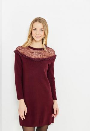 Платье Morgan. Цвет: бордовый