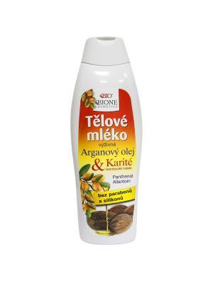 Молочко для тела с Аргановым маслом и ши 500 мл. BioBione. Цвет: белый