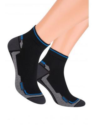 Комплект спортивных носков Steven, 38-40, серо-синий/т.-синий,сине-зеленый/т.-синий,черный/т.-сер. Steven. Цвет: морская волна, серо-голубой, темно-серый, черный, темно-синий