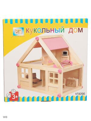 Кукольный дом Винтик и Шпунтик. Цвет: розовый, бежевый