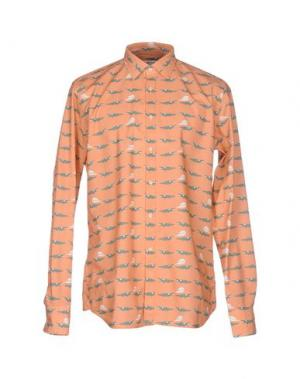 Pубашка BEVILACQUA. Цвет: лососево-розовый