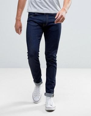 Edwin Суженные книзу джинсы слим с заниженным шаговым швом ED-85. Цвет: синий