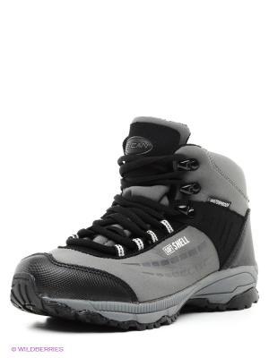 Ботинки Escan. Цвет: серый, черный