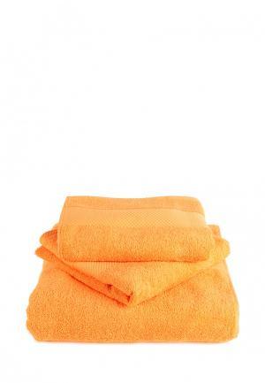 Комплект полотенец 3 шт. Bellehome. Цвет: оранжевый