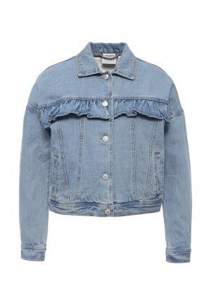 Куртка джинсовая Vero Moda. Цвет: голубой