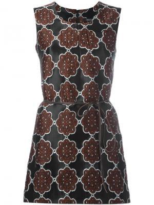 Жаккардовое мини-платье Ter Et Bantine. Цвет: чёрный