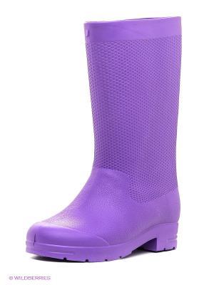 Резиновые сапоги Janett. Цвет: фиолетовый